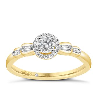 Emmy London 9ct Yellow Gold 1/3ct Diamond Ring - Product number 6446000