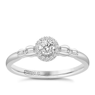 Emmy London Platinum 1/4ct Diamond Ring - Product number 6446922