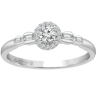 Emmy London 18ct White Gold 1/4ct Diamond Ring - Product number 6447228