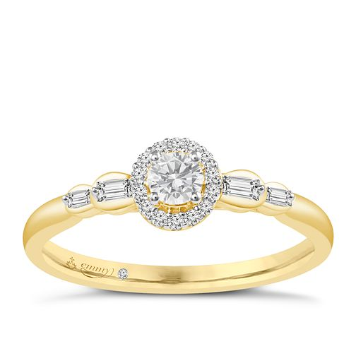 Emmy London 9ct Yellow Gold 1/4ct Diamond Ring - Product number 6447341