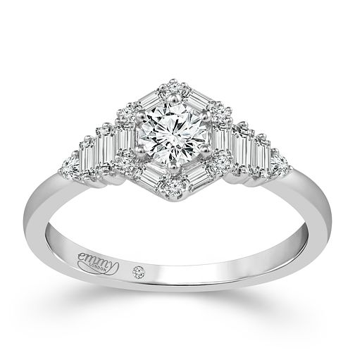 Emmy London Platinum 1/2 Carat Diamond Ring - Product number 6447473