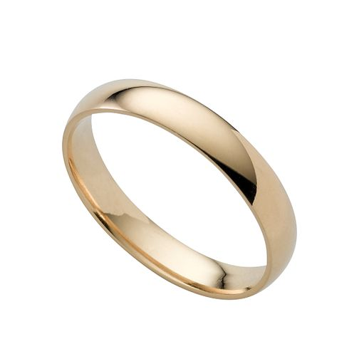 18ct gold extra heavy 4mm court ring - Product number 6471161
