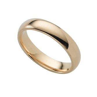 18ct Yellow Gold 4mm Super Heavyweight Court Ring - Product number 6471374