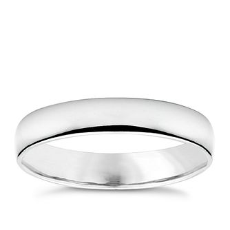 Platinum extra heavy 4mm court ring - Product number 6471595
