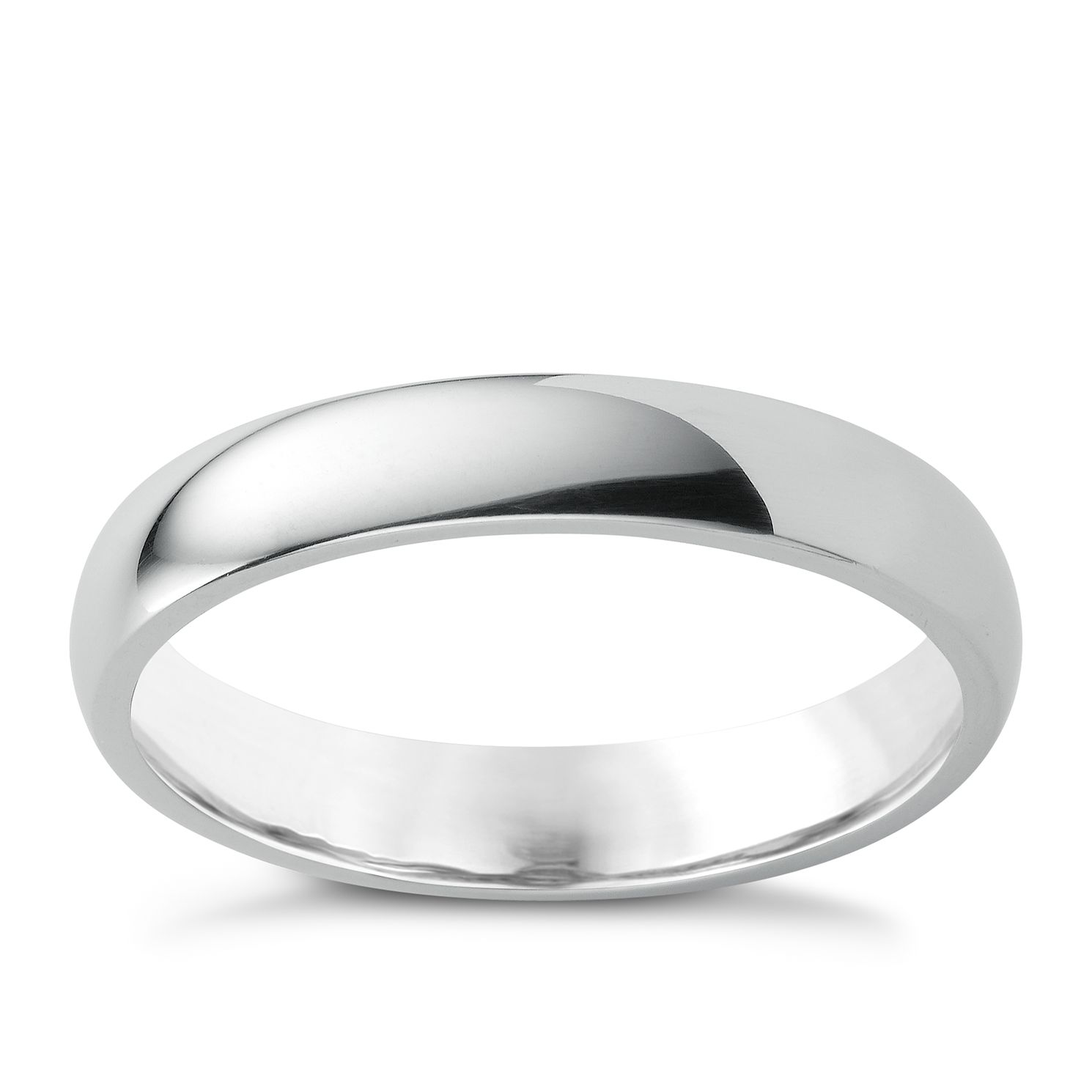 Platinum 4mm Super Heavyweight Court Ring - Product number 6471781