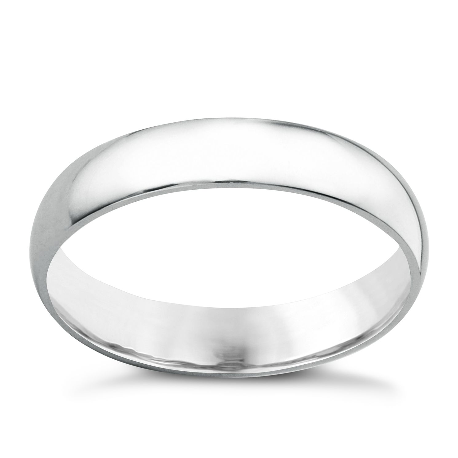 18ct White Gold 4mm Extra Heavyweight Court Ring - Product number 6472249
