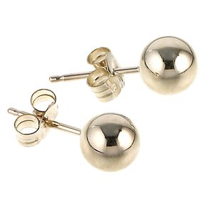 9ct gold 5mm ball stud earrings - Product number 6516386