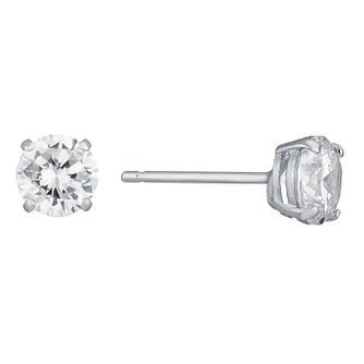 9ct White Gold Cubic Zirconia 5mm Stud Earrings - Product number 6516432