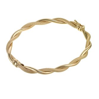 9ct Gold Matt And Polished Twist Bracelet - Product number 6520472