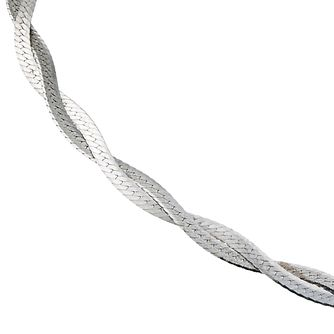 9ct White Gold Small Herringbone Bracelet - Product number 6521339