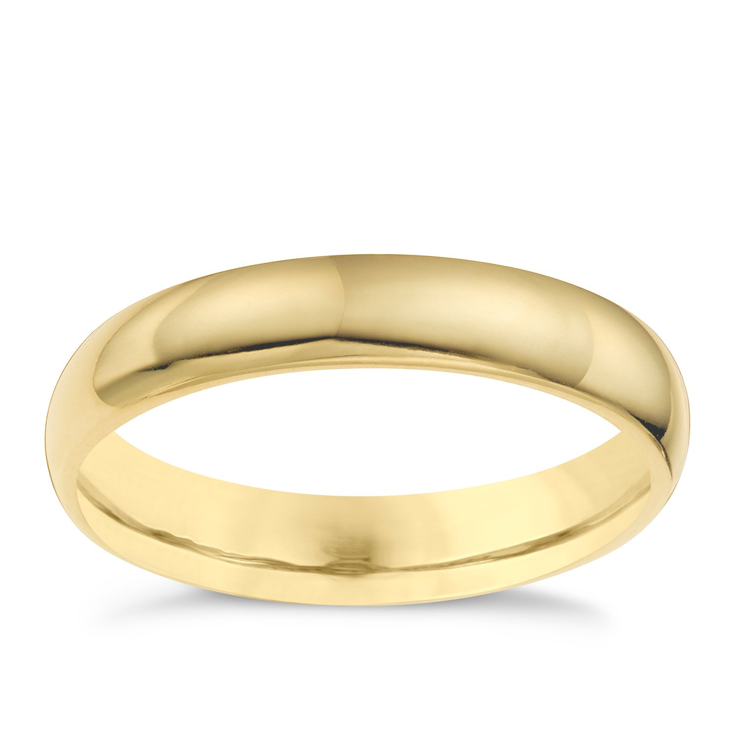 9ct yellow gold 4mm super heavyweight court ring - Product number 6628192