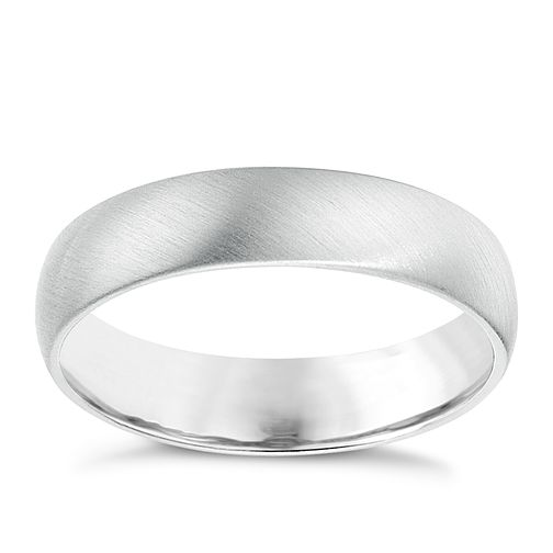Platinum matt finish wedding ring - Product number 6630340
