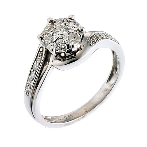 9ct White Gold Half Carat Diamond Ring - Product number 6658423
