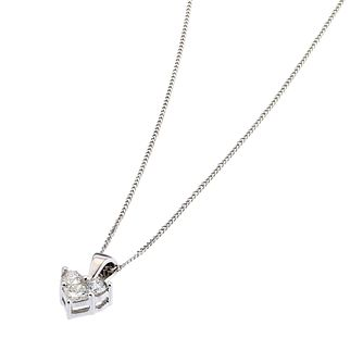 9ct White Gold 0.25ct Diamond Heart Pendant - Product number 6671640