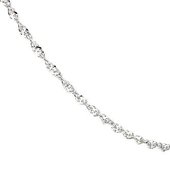 "9ct White Gold 24"" Adjustable Singapore Chain Necklace - Product number 6678246"