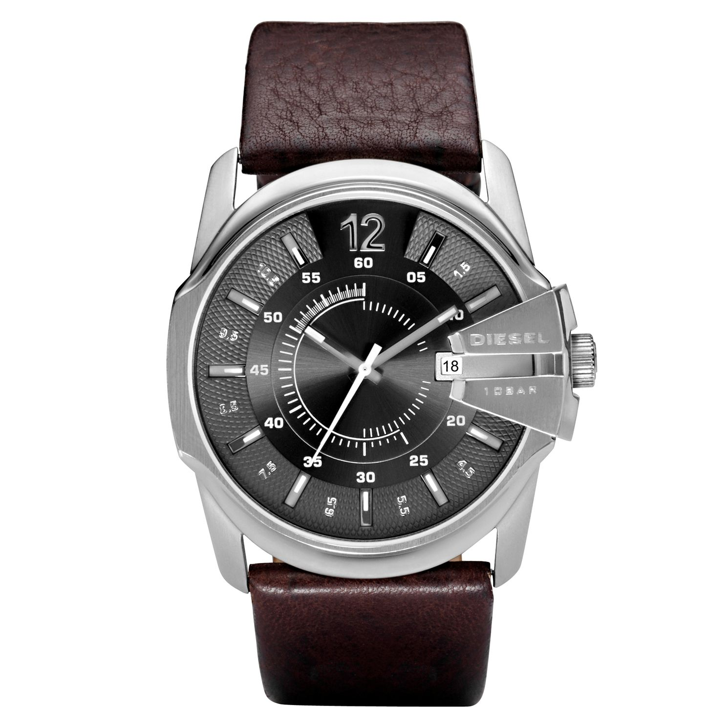 Diesel Master Chief Men's Brown Leather Strap Watch - Product number 6678785