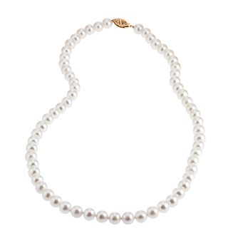9ct Yellow Gold Certified Cultured Freshwater Pearl Necklace - Product number 6709990