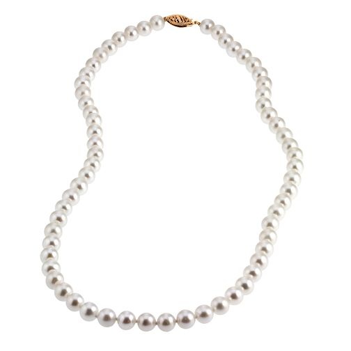 9ct Yellow Gold Certified Cultured Pearl Necklace - Product number 6710018
