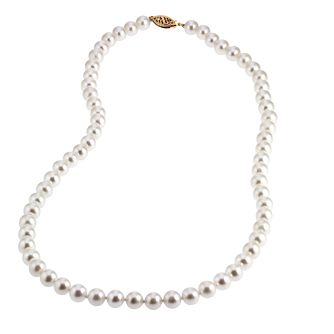 9ct Yellow Gold Certified Cultured Freshwater Pearl Necklace - Product number 6710026