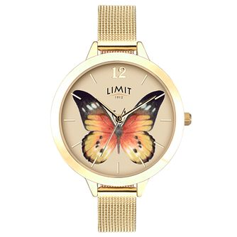 Limit Secret Garden Ladies' Gold Plated Mesh Watch - Product number 6765254