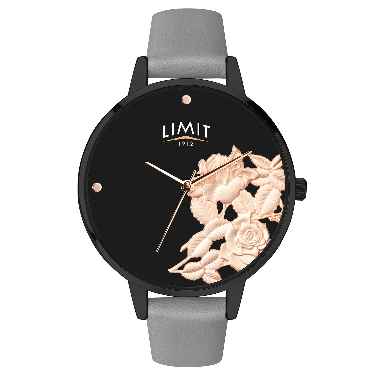 Limit Secret Garden Ladies' Black 3D Effect Watch - Product number 6775845