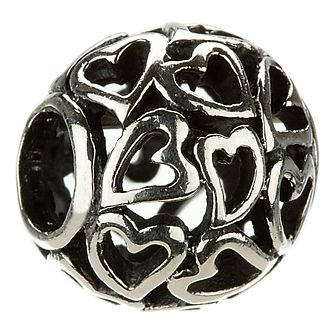 Chamilia - sterling silver Captured Hearts bead - Product number 6802958