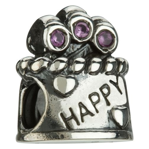 Chamilia - sterling silver Happy Birthday bead - Product number 6804039