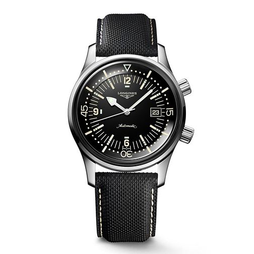 Longines Heritage Legend Diver men's black strap watch - Product number 6806430