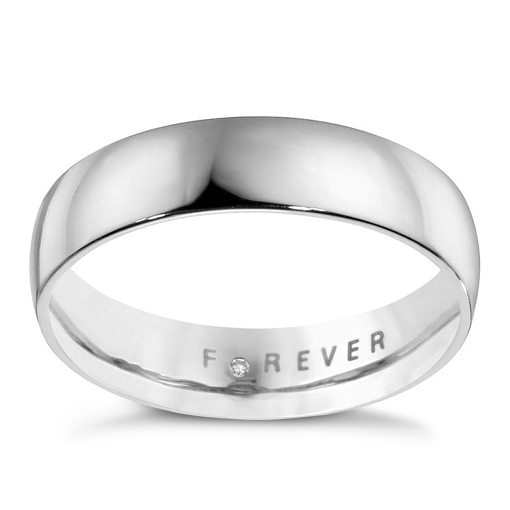 18ct White Gold 5mm Forever Wedding Ring