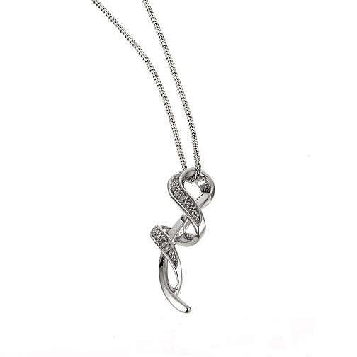 9ct white gold diamond pendant - Product number 6863019