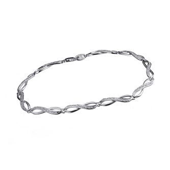 9ct white gold diamond bracelet - Product number 6863183