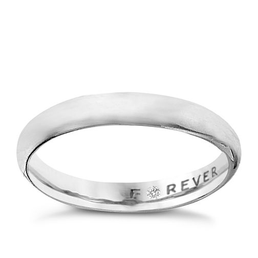 Platinum 3mm Forever Diamond Ring - Product number 6883389
