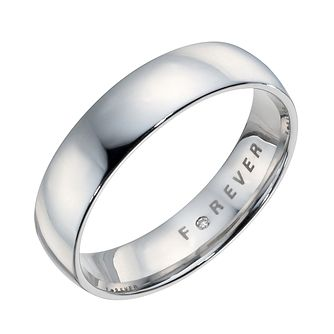 The Forever Diamond Platinum 5mm Wedding Ring - Product number 6883648