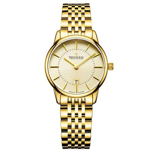 Dreyfuss & Co Ladies' Gold PVD Bracelet Watch - Product number 6889832