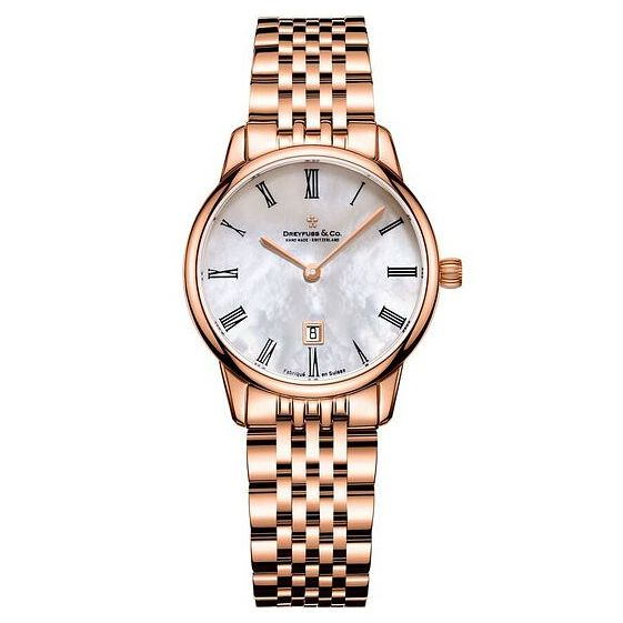 Dreyfuss & Co Ladies' Rose Gold PVD Bracelet Watch - Product number 6889840
