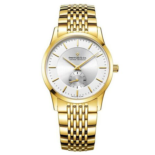 Dreyfuss & Co Men's Gold PVD Bracelet Watch - Product number 6889948