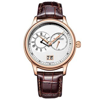 Dreyfuss & Co Men's Brown Leather Strap Watch - Product number 6890067