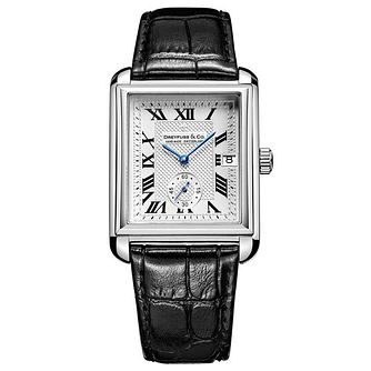 Dreyfuss & Co Men's Black Leather Strap Watch - Product number 6890121