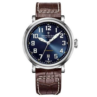 Dreyfuss & Co Men's Brown Leather Strap Watch - Product number 6890180
