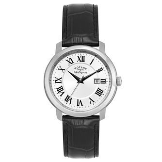 Rotary Ladies' Stainless Steel Black Strap Watch - Product number 6892086