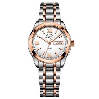 Rotary Men's Two Tone Rose Gold Plated Bracelet Watch - Product number 6892213