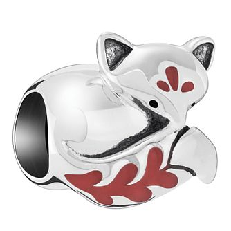 Chamilia Sleeping Fox Charm with Orange Enamel - Product number 6893295