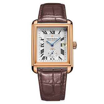 Dreyfuss & Co Men's Brown Leather Strap Watch - Product number 6895387