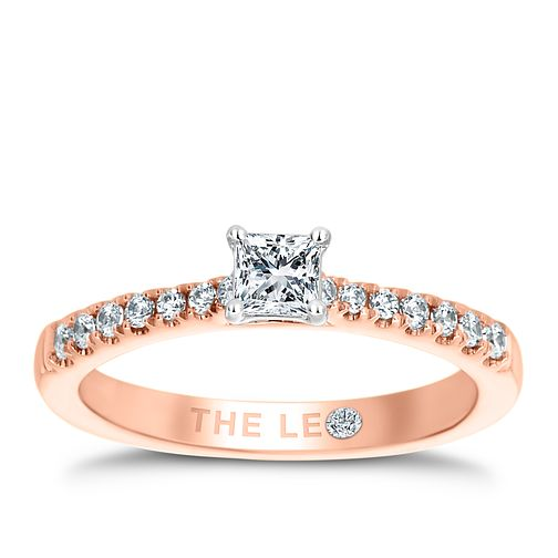 Leo Diamond 18ct Rose Gold 1/2ct II1 Diamond Ring - Product number 6898203