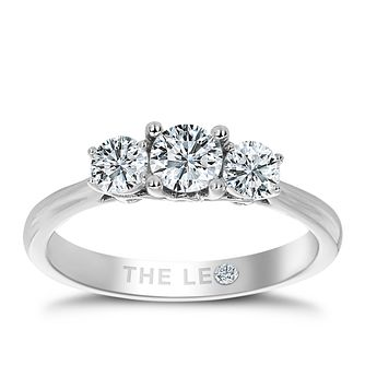 Leo Diamond Platinum 3 Stone 3/4ct Ii1 Diamond Ring - Product number 6898998