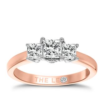Leo Diamond 18ct Rose Gold 3 Stone 3/4ct II1 Diamond Ring - Product number 6899390