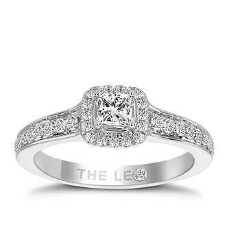 Leo Diamond Platinum 1/2ct Ii1 Diamond Halo Ring - Product number 6901395