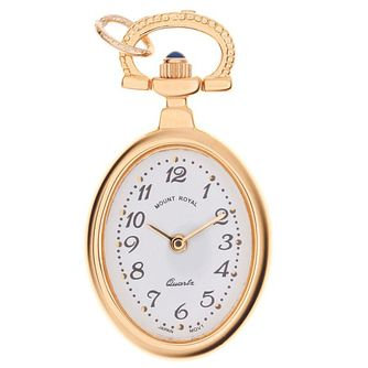 Mount Royal Ladies' Gold Plated White Dial Pendant Watch - Product number 6906346