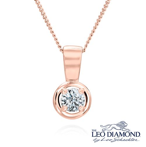Leo Diamond 18ct Rose Gold 0.20ct I-I1 Pendant - Product number 6908748