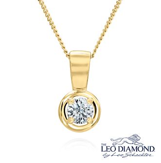 Leo Diamond 18ct Yellow Gold 0.20ct I-I1 Pendant - Product number 6908756